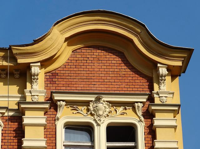 Pediment, Bydgoszcz, Poland, Gable, Architecture