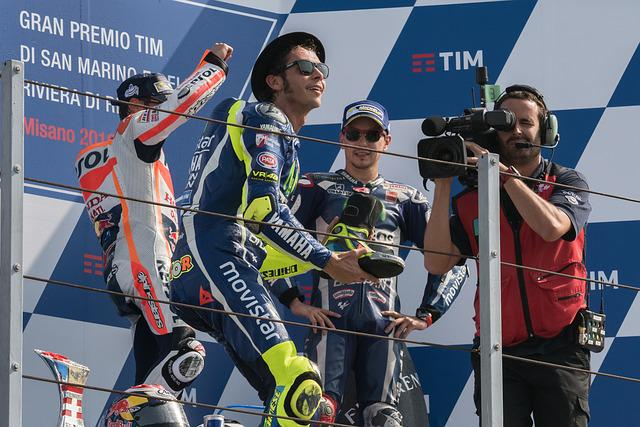 Podium, Valentino Rossi, Pedrosa, Misano, Victory