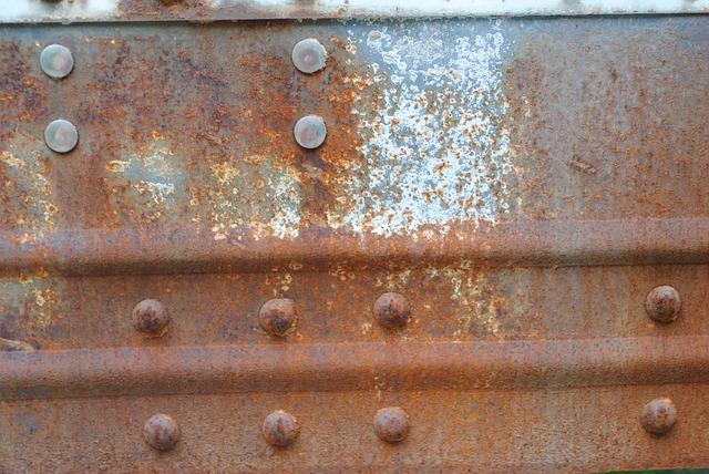 Texture, Rust, Brown, Blue, Peeling Paint, Bolts