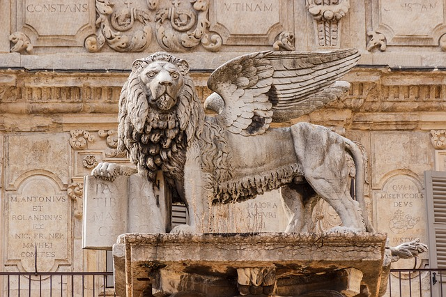 Lion, Statue, Pegasus, Winged Lion, Italy, Wing