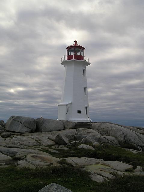 Lighthouse, Nova Scotia, Peggy's Cove, Canada
