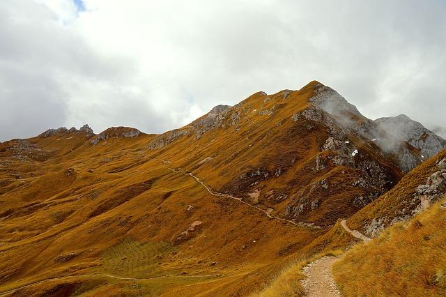Alpine, Mountains, Dolomites, Peitlerkofel, Rock