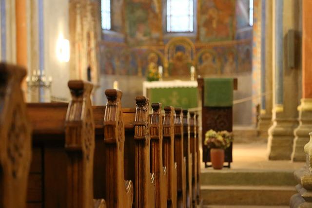Monastery, Church, Pew, Pen, Church Pews, Neuwerk, Nave