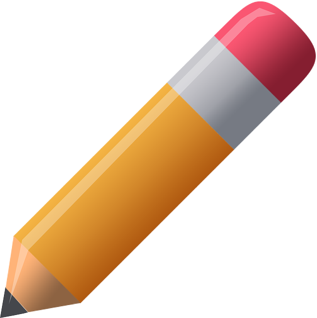 Pencil, Pen, Orange, Red, Eraser, Graphic, Draw, Leave