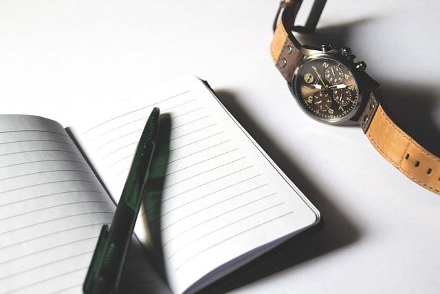 Checklist, Paper, Notebook, Watch, Pen, Writing