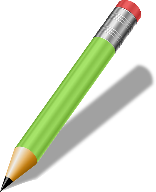 Pencil, Green, Writing Tools, School Supplies