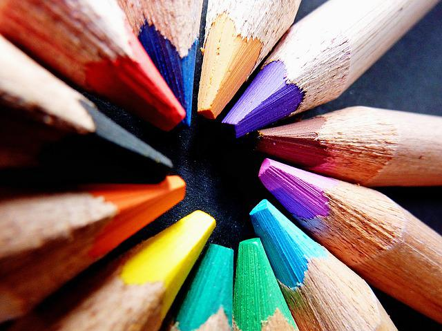 Colored Pencils, Colorful, Color, Pens, Pointed, Paint
