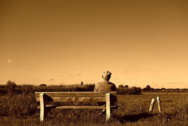 Man, Old Man, Sitting, Seated, Elderly, Pensioner