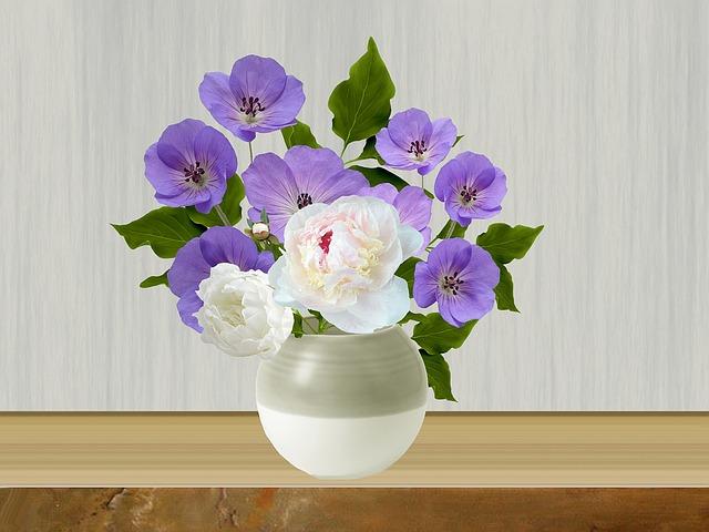 Pot, Flowers, Flowers In Pots, Flower Pot, Peonies