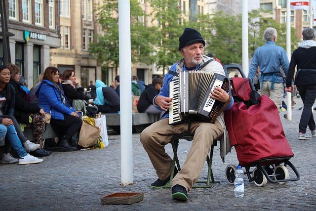 Acordeon, People, Money, Music, Player, Person