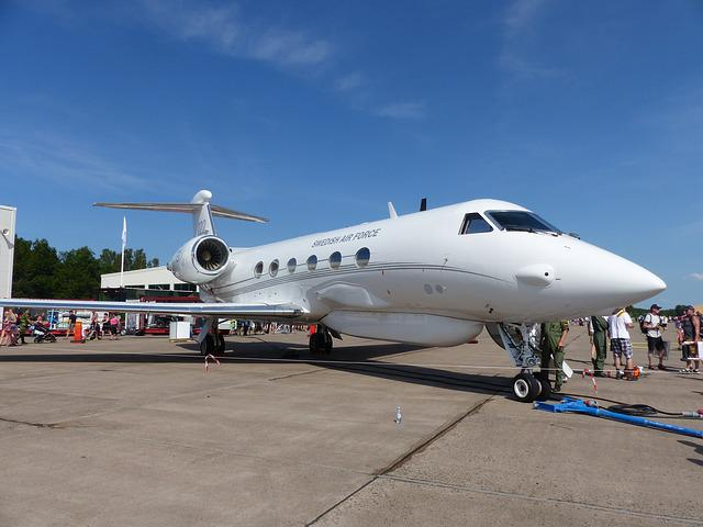Aircraft, White, Sky, Airfield, People, Display