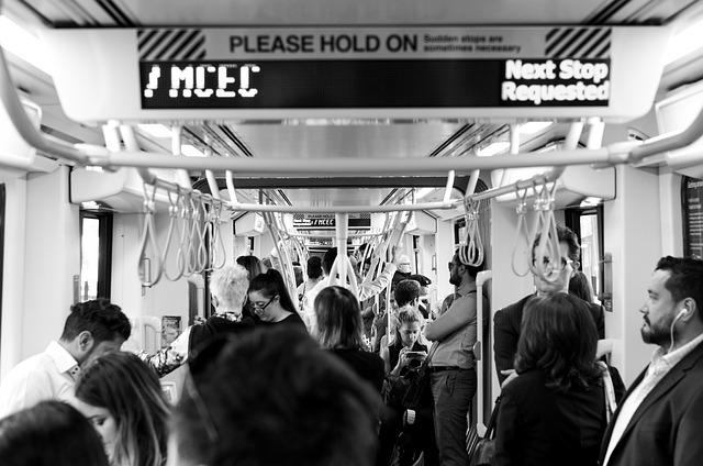 Melbourne, Tram, People