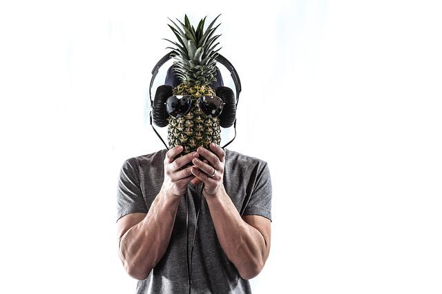 Portrait, Person, Male, Pineapple, People, Studio