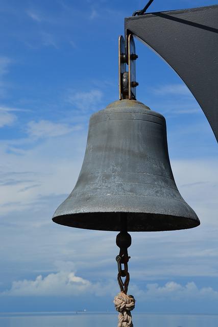 Bell, People, Metal, Sky