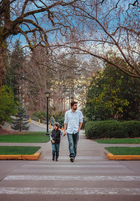 Father, Son, Walking, Child, Family, Boy, People