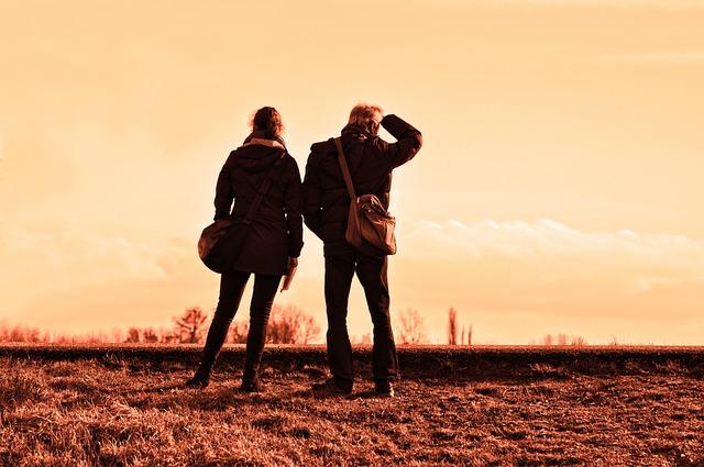 People, Travelers, Together, Standing, Destination
