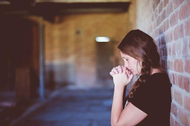 People, Girl, Alone, Praying, Wall, Chapel, Church