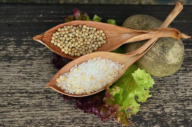 Salt And Pepper, Grains Of Salt, Peppercorns