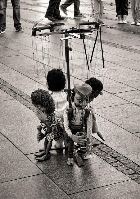 Entertainment, Performance, Puppets, Street, Strings