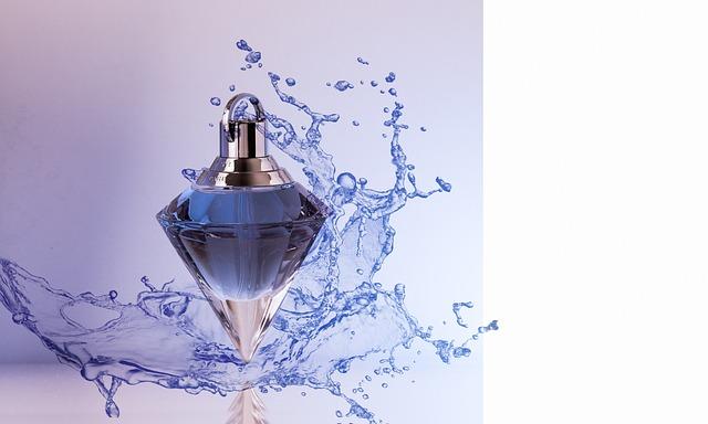 Perfume, Deco, Bottle, Drip, Blue, Perfume Bottle