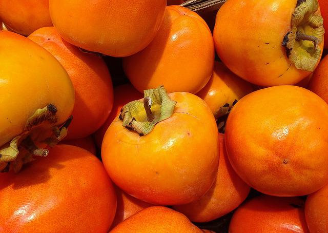 Fruit, Persimmons, Fall, Orange