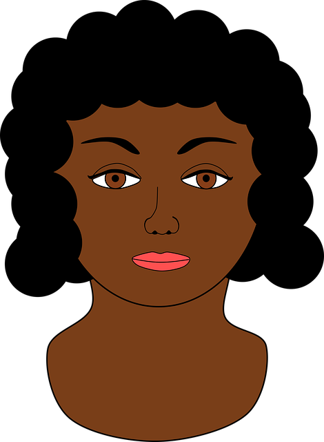 Black, Bust, Face, Lady, Person, Woman