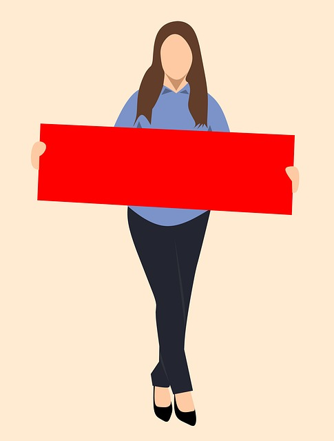 Full Woman Body, Person, Board Girl, Blank, Isolated