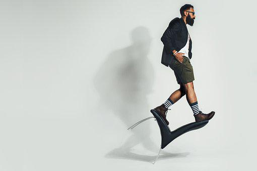 Balancing, Chair, Fashion, Man, Model, Person