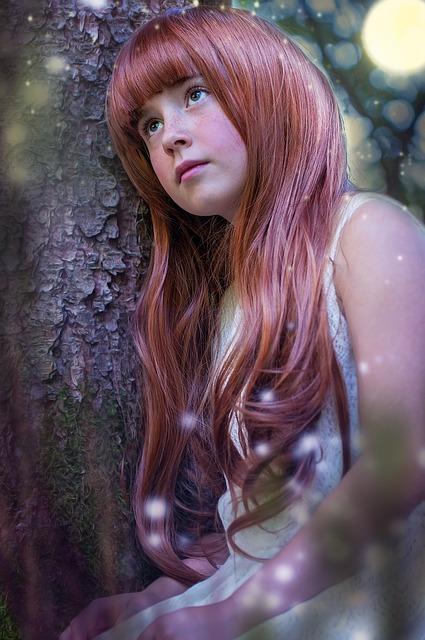 Person, Human, Female, Girl, Face, Long Hair, Red Hair