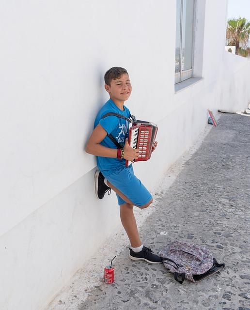 Person, People, Boy, Santorini, Greece, Entertaining