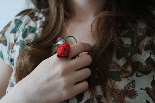 Flora, Flower, Hand, Person, Rose, Woman