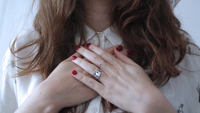 Fingers, Girl, Hair, Hands, Person, Rings, Woman