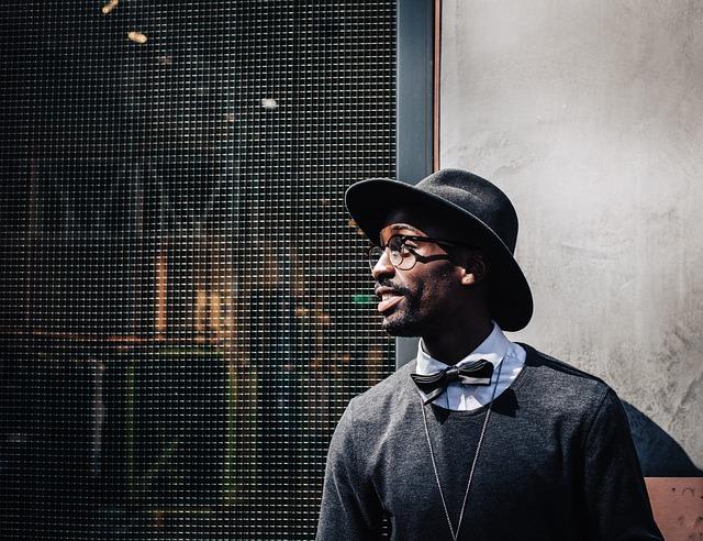 Eyeglasses, Fashion, Fedora, Hat, Man, Person, Smile