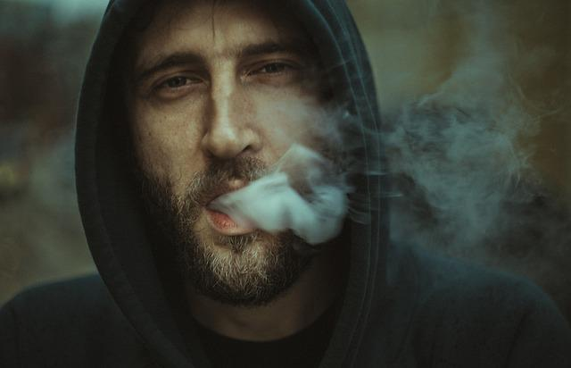Macro, Man, Person, Portrait, Smoke, Smoking