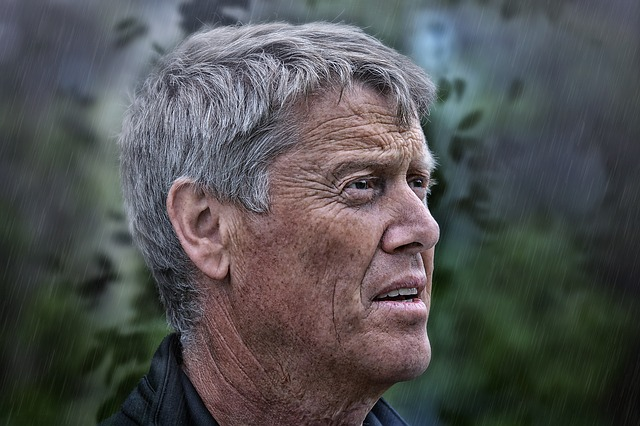 Rain, Man, Person, Human, Male, Face, View, Close