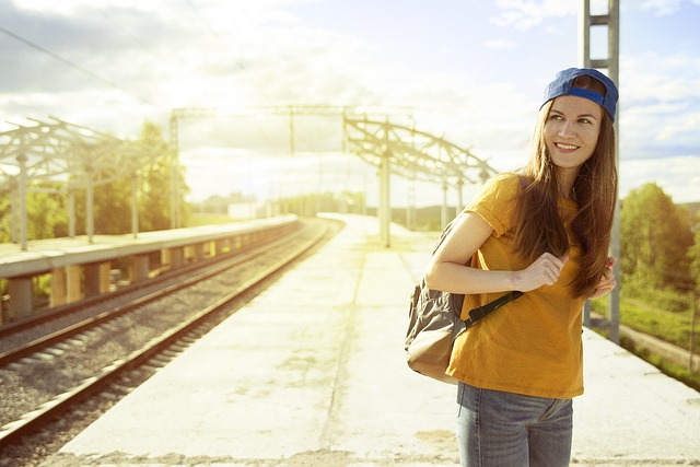 Model, Person, Railway, Sky, Summer, Sunny, Woman