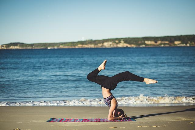 Yoga, Balance, Zen, Beach, Ocean, Meditation, Person