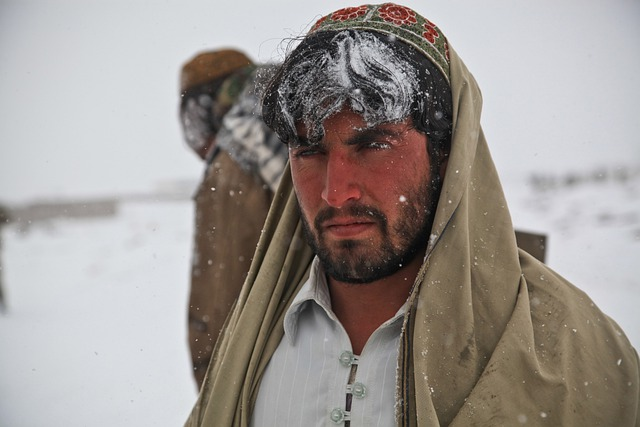 Afghani, Man, Portrait, Person, Cold, Winter, War, Icy
