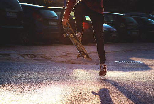 Person, Road, Shoes, Skate, Skateboard, Skateboarder