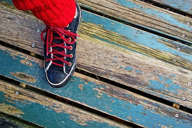 Foot, Shoe, Sneaker, Sock, Woman, Person, Standing