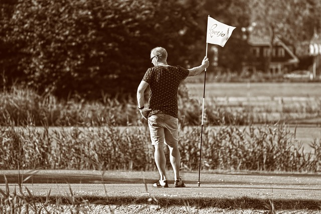 Person, Man, Golfer, Golf Course, Sport, Flag, Standing