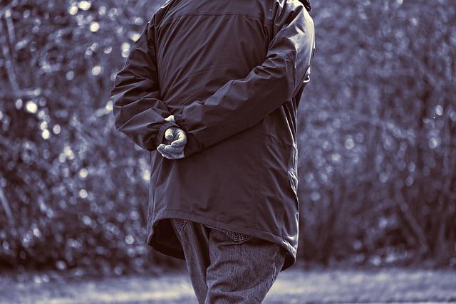 Elderly Man, Person, Walking, Hands, Hands On Back
