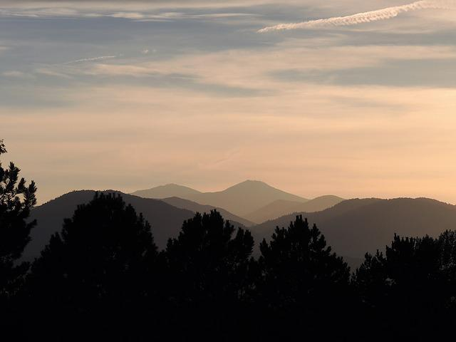 Mountains, Sunset, Depth, Perspective, Layers