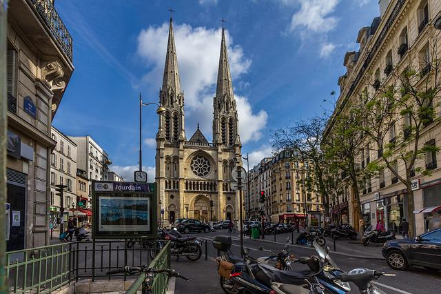 Paris, Tourism, History, Church, Sky, Perspective, City