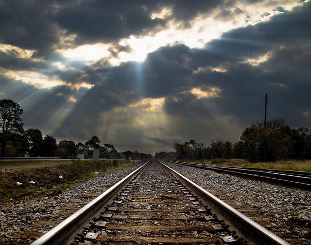 Railroad, Rails, Tracks, Train, Trackage, Perspective
