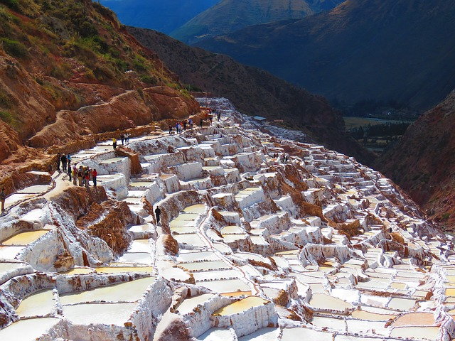 Salinas Of Maras, Salt, White, Water, Peru