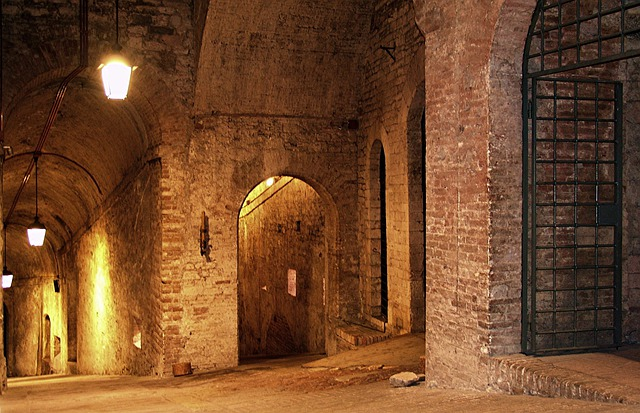Italy, Perugia, Fortress, Vault, Dungeon, City Wall