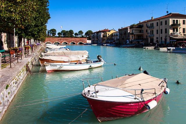 Peschiera Del Garda, Garda, Boat, Italy, Port