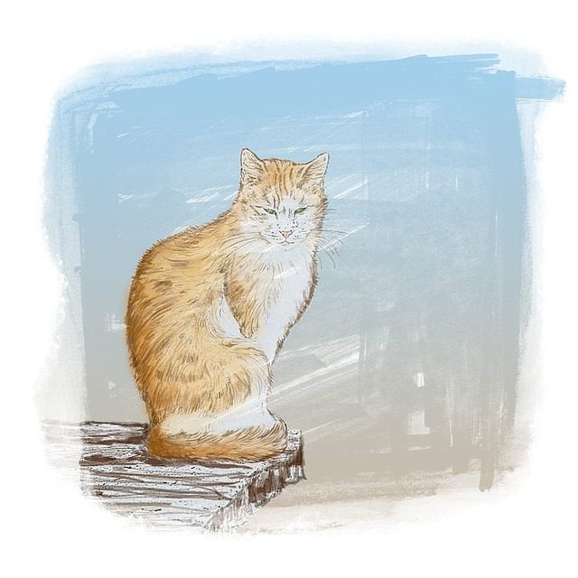 Cat, Ginger, Pet, Painting, Soft, Animal, Artistic