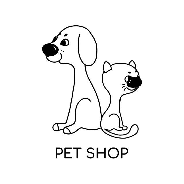 Pet, Dog, Cat, Veterinary, Puppy, Shop, Logo, Kitten